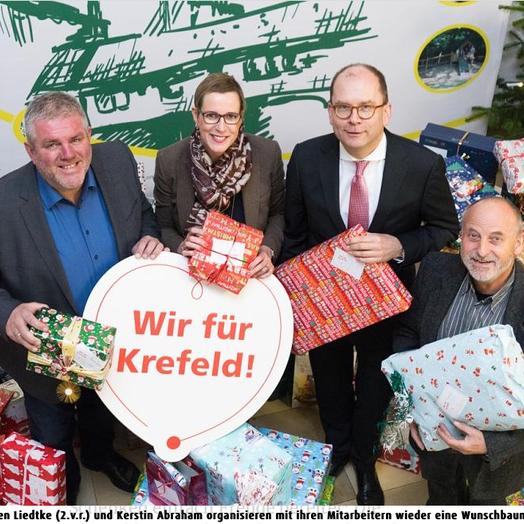 23. November 2018 Presse Stadt Spiegel – SWK stellt den Wunschbaum auf